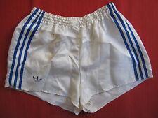 Short Adidas Ventex Blanc OM Marseille Vintage satin nylon Oldschool 80'S - M