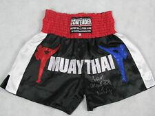 SOREN 'NTG' MONGKONGTONG Hand Signed Muay Thai Shorts + Photo Proof