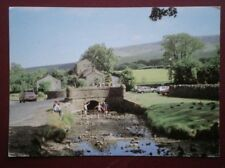 POSTCARD LANCASHIRE PENDLE HILL FROM DOWNHAM NEAR CLITHEROE