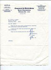 Lou Frey Jr Florida US Representative Congress Signed Autograph TSL