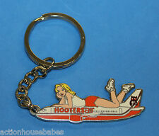 HOOTERS AIR GIRL AIRPLANE KEYCHAIN DEFUNCT AIRLINES / AIRCRAFT / PLANE