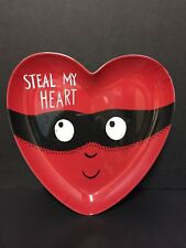 Pottery Barn Kids Valentine Day Steal My Heart Plate Kitchen Table Party Gift Nw