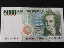 BANCONOTA LIRE 5000 BELLINI  SERIE D FIOR DI STAMPA