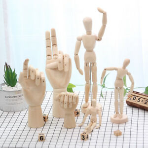 Wooden Manikin Human Figure Artist Draw Painting Model Mannequin Jointed Doll