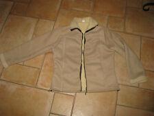 tolle neuwertige Jacke in Wildleder / Fell Optik,  Gr. M, super für den Übergang