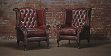 Echter Chesterfield  Ohrensessel Sessel Couch Sofa Polster Sitz Lounge Antik
