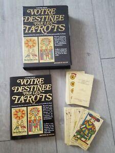 Votre Destinee Par Les Tarots Coffret 78 cartes + Manuel 184 pages Éd. De Vecchi