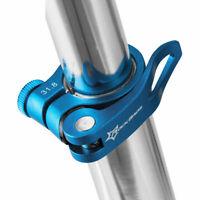 RockBros Bike Aluminum Seatpost Seat Post Clamp Quick Release QR 31.8mm Blue