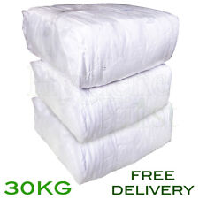 30Kg Bag of Rags 100% White Sheet Cotton wipers - excellent value for money