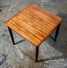 Mid Century Danish Modern End Table Side Square Rosewood Denmark Nightstand Mcm