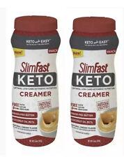 2 Pack SlimFast Keto Unsweetened Creamer 13.2 oz 08/2020