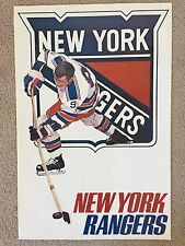 Vintage NHL New York Rangers poster from the early 1970s