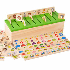 Wooden Classification Box Montessori Fruit Animal Cognitive Matching Puzzle Toys