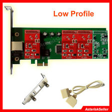 asterisk card +Low Profile,PCI-E freepbx asterisk Issabel FXO FXS Card tdm400p