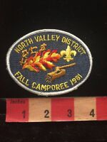 Vtg 1981 NORTH VALLEY DISTRICT FALL CAMPOREE BSA Boy Scouts Patch 87N9