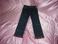 NEW Womens Stretch NFL Chicago BEARS Safety Flannel Lined JEANS 10L 31/33x31/33