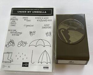 Stampin Up Under My Umbrella Bundle Stamp & Punch