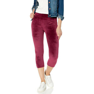 Splendid Women's Velour and French Terry Mixed Media Legging, Ruby, Small