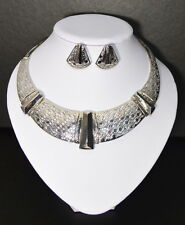 Luxus Set 2 Tlg Kette Ohrringe Schmuckset Collier Halskette Pharao Paris