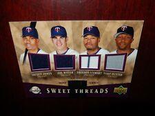 2004 Sweet Spot Sweet Threads Joe Mauer Torii Hunter Quad Jersey #58/99 TWINS