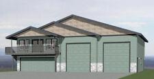 60x50 Apartment with 2-Car 2-RV Garage - PDF FloorPlan - 1,648 sqft - Model 2B