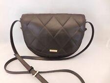 Tignanello Brown Leather Diamond Shape Design Flap Snap Crossbody Shoulder Bag