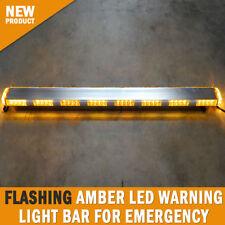 Flashing Amber LED Warning Light Bar Emergency Safety Hazard Beacon 1140mm