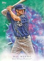 2017 Topps Inception Baseball Green #16 Wil Myers San Diego Padres