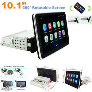 """360° Rotatable 1Din 10.1"""" Quad Core Android 9.1 Car Navigation GPS Player 1G+16G"""