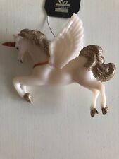 Estilo Vintage Decoración De Navidad Adorno Primark Unicornio Pegasus Oro Brillo