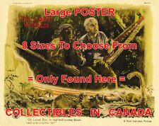 "THE LOST WORLD 1925 Dinosaur BULL MONTANA Stone = MOVIE POSTER 8 Sizes 18""-3 FT"
