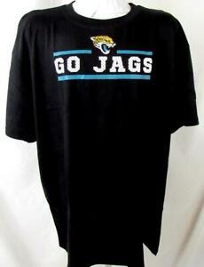 "Jacksonville Jaguars Big Mens 2XL Short Sleeve Screened ""GO JAGS"" Tee AJJS 174"