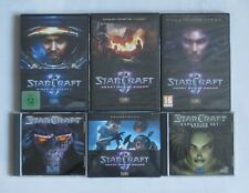 Starcraft Brood War - Wing of Liberty / Heart of the Swarm - PC Spiele Sammlung