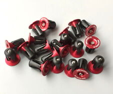 Road MTB XC Bike Aluminum Expander Handlebar Grips Bar top Cap End Plugs Red