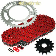 Red O-Ring Drive Chain & Sprocket Kit Fits KAWASAKI EN500 Vulcan 500 Ltd 96-05