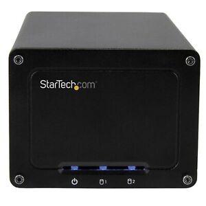 """STARTECH 2 Bay 2.5"""" SATA HDD RAID Enclosure USB-C UASP S252BU313R"""
