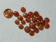 Sunstone 98.70 Cts Around 8-13 MM Round 21 Cabs Lots Of Copper Schiller Flashes