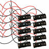 "Lot 10Pcs New 1 23A A23 Battery 12V Clip Holder Box Case with 6"" Leads Black DIY"