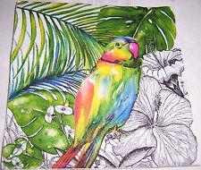 10 Servietten Papagei Dschungel Vogel Exotik Einzelstücke