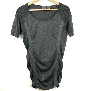 CALIA Carrie Underwood Move Seamless Ruched Top M Medium Short Sleeve