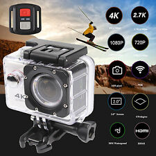 4K 16MP Wifi GO Action Pro Camera Camcorders Sports DV+Remote+Accessories Bundle