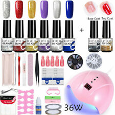 LILYCUTE Nail Gel Polish Soak off Base Top Coat Nail Dryer Nail Art Starter Kit