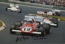 Arturo Merzario mano firmato 12x8 FOTO FERRARI F1.
