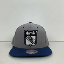Mitchell & Ness New York Rangers Snapback Hat Cap NHL Vintage Embroidered Grey