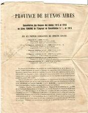 4 Documents sur Actions de Buenos Aires.1915 à 1921. RARE+++++Société Générale.