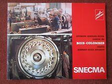 1975 PLAQUETTE SNECMA HISPANO-SUIZA BOIS COLOMBES TYNE SEMMB TURBOCOMPRESSEUR