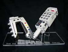 acrylic display stand for Space 1999 Commlock & stun gun props