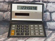 Vintage 80's CASIO SL-100w Solar Calculator with Case