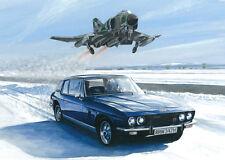 Jensen Interceptor McDonnell Douglas Phantom FGR.2 Car RAF Christmas Xmas Card