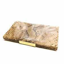 KATE SPADE python metal closure clutch miniaudiere bag with coins pouch